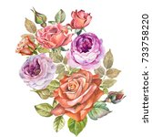 roses.watercolor | Shutterstock . vector #733758220