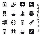 16 vector icon set   report ... | Shutterstock .eps vector #733764433