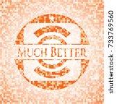 much better orange mosaic... | Shutterstock .eps vector #733769560
