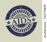 blue aids grunge style stamp | Shutterstock .eps vector #733770859