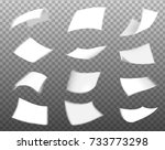 white paper flying collection... | Shutterstock .eps vector #733773298