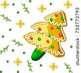 christmas background | Shutterstock .eps vector #733773793