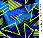 urban art sport abstract vector ... | Shutterstock .eps vector #733775296