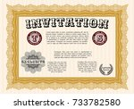 orange formal invitation... | Shutterstock .eps vector #733782580