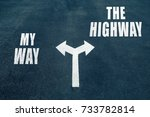 my way vs the highway choice... | Shutterstock . vector #733782814