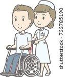 illustration that a woman nurse ... | Shutterstock .eps vector #733785190