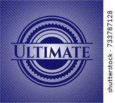 ultimate badge with denim... | Shutterstock .eps vector #733787128