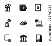 set of 9 editable financial...