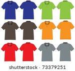polo shirt design vector...   Shutterstock .eps vector #73379251