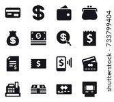 16 vector icon set   card ... | Shutterstock .eps vector #733799404