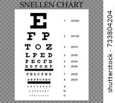 vector eye test chart. visual... | Shutterstock .eps vector #733804204