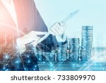 business financial ideas... | Shutterstock . vector #733809970