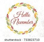 vector lifestyle lettering... | Shutterstock .eps vector #733823710