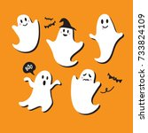 Cute Ghost Vector Illustration...
