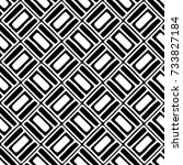 seamless pattern. black and... | Shutterstock . vector #733827184