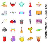 musical performance icons set.... | Shutterstock . vector #733831120