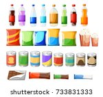 vending machine product items... | Shutterstock .eps vector #733831333
