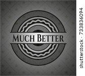 much better retro style black... | Shutterstock .eps vector #733836094