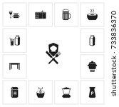 set of 13 editable kitchen...