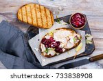 homemade leftover thanksgiving...   Shutterstock . vector #733838908