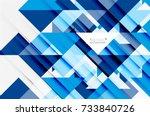 triangle pattern design... | Shutterstock .eps vector #733840726