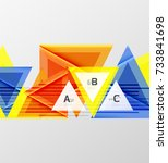 triangles and geometric shapes... | Shutterstock .eps vector #733841698