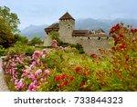 gutenberg castle in vaduz ... | Shutterstock . vector #733844323
