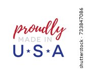 proudly made in usa vector text ... | Shutterstock .eps vector #733847086