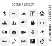 set of 20 editable active icons....