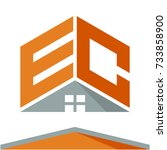 icon logo for construction... | Shutterstock .eps vector #733858900