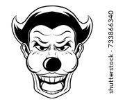 clown mascot illustration... | Shutterstock .eps vector #733866340
