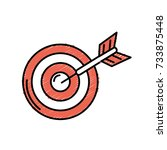 dart target board to strategy... | Shutterstock .eps vector #733875448
