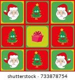 christmas pattern | Shutterstock .eps vector #733878754