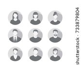 set of profile icons for men... | Shutterstock .eps vector #733879804