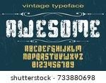 font handcrafted vector... | Shutterstock .eps vector #733880698