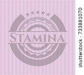 stamina pink emblem | Shutterstock .eps vector #733881070