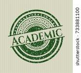 green academic distress rubber... | Shutterstock .eps vector #733881100