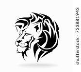lion on white background ...   Shutterstock .eps vector #733881943