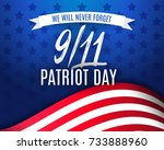 9 11 patriot day background ... | Shutterstock .eps vector #733888960