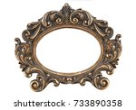 figured decorative gold bronze... | Shutterstock . vector #733890358