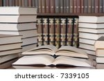 books in a library | Shutterstock . vector #7339105
