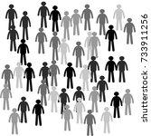 group of people | Shutterstock .eps vector #733911256