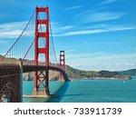 the golden gate bridge in san... | Shutterstock . vector #733911739
