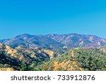 Red Fire Retardant Hills...