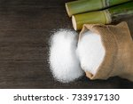 white sugar  sugar in bag sack...   Shutterstock . vector #733917130
