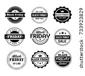 black friday sale related... | Shutterstock .eps vector #733923829
