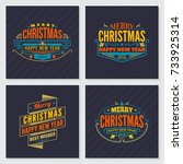 merry christmas and happy new... | Shutterstock .eps vector #733925314