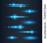 special line flare light... | Shutterstock .eps vector #733927264