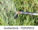 spraying herbicide from the... | Shutterstock . vector #733929013