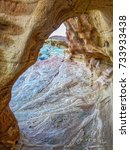 sandstone arch. valley of fire... | Shutterstock . vector #733933438